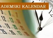 Akademski kalendar za 2021/22. godinu